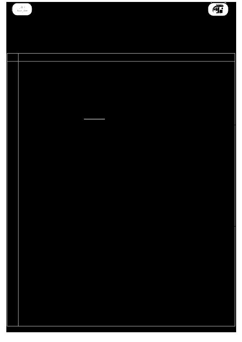 آزمون نوبت اول هندسه (1) پایه دهم دبیرستان نیک نام + پاسخ | دیماه 96