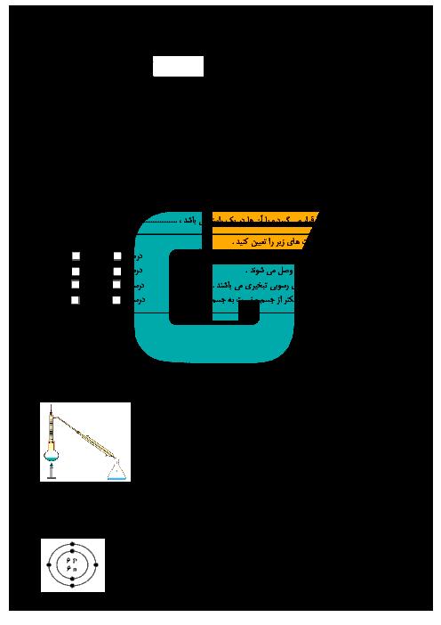 آزمون نوبت دوم علوم تجربی هشتم  دبیرستان نمونه شیخ مفید گرمسار |  خرداد 95