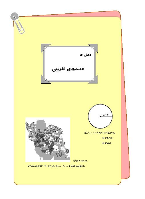 درس، تمرین و تست فصل (7) ریاضی ششم | تقریب