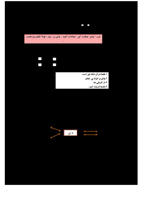 امتحان قرآن پایه هفتم مرکز استعدادهای درخشان شهید بهشتی تربت جام | نوبت اول دی 94