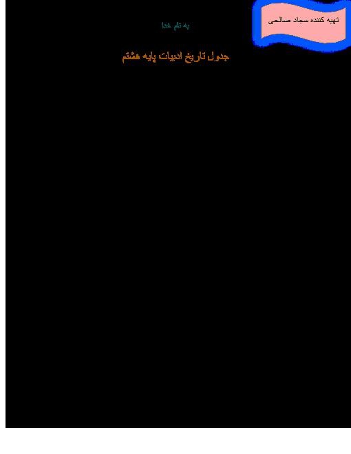 تاریخ ادبیات فارسی پایه هشتم