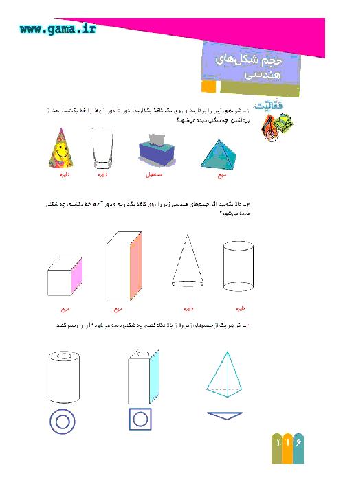راهنمای گام به گام ریاضی ششم | فصل 6 : حجم شکل های هندسی