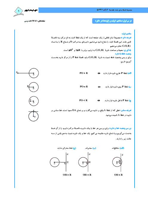 درسنامه آموزشی و 76 سوال تستی هندسه (2) پایه یازدهم رشته ریاضی | فصل اول- درس 1 و 2