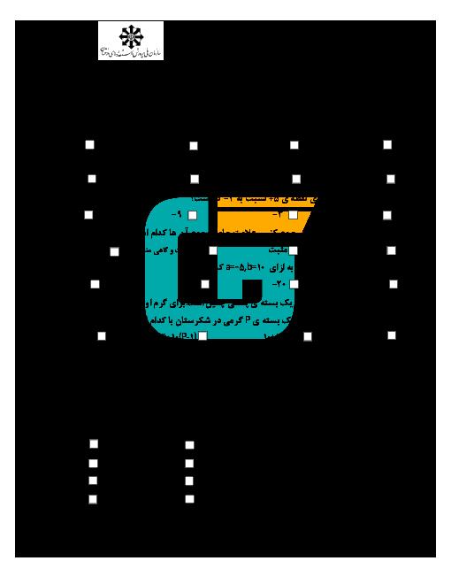 امتحان نوبت اول ریاضی هفتم دبیرستان شهید اژهای اصفهان | دی 93