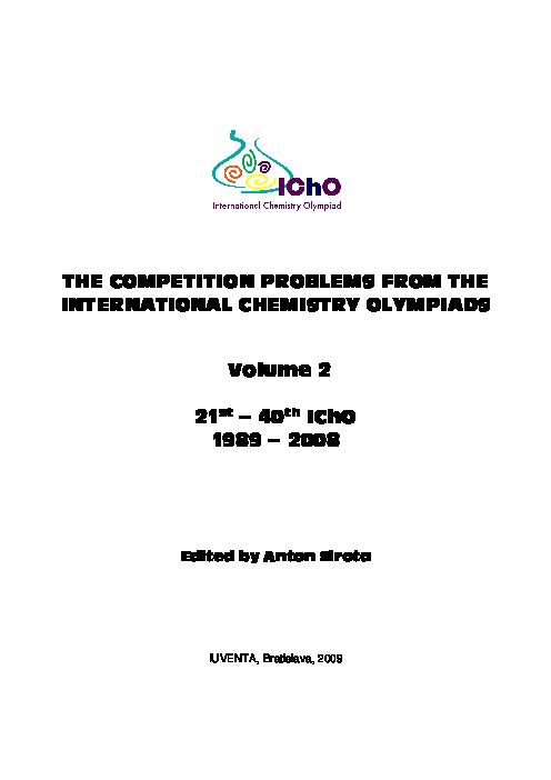 سوالات بیست و یکمین تا چهلمین دوره المپیاد جهانی شیمی | سال 1989 تا 2008
