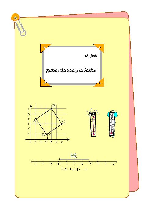 درس، تمرین و تست فصل (4) ریاضی ششم | مختصات
